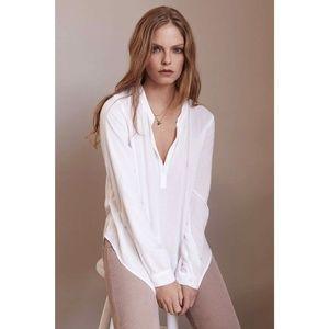 RARE Velvet White Rosie Long Sleeve Challis Blouse